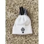 Müts sulgpallilogoga valge